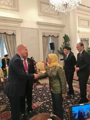Встреча с Президентом Республики Сингапур Халимой Якоб